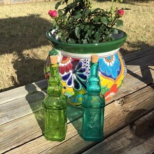 Other - Green & Blue Glass Bottles